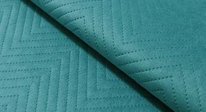 Tkanina pikowana z kolekcji Jasmine turkusowy