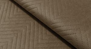 Tkanina pikowana z kolekcji Jasmine brązowy