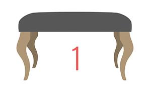 Nogi do ławeczki tapicerowane