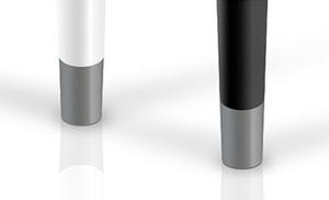 Opcja wykończenia nóżek srebrnym kolorem