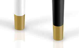Opcja wykończenia nóżek złotym kolorem